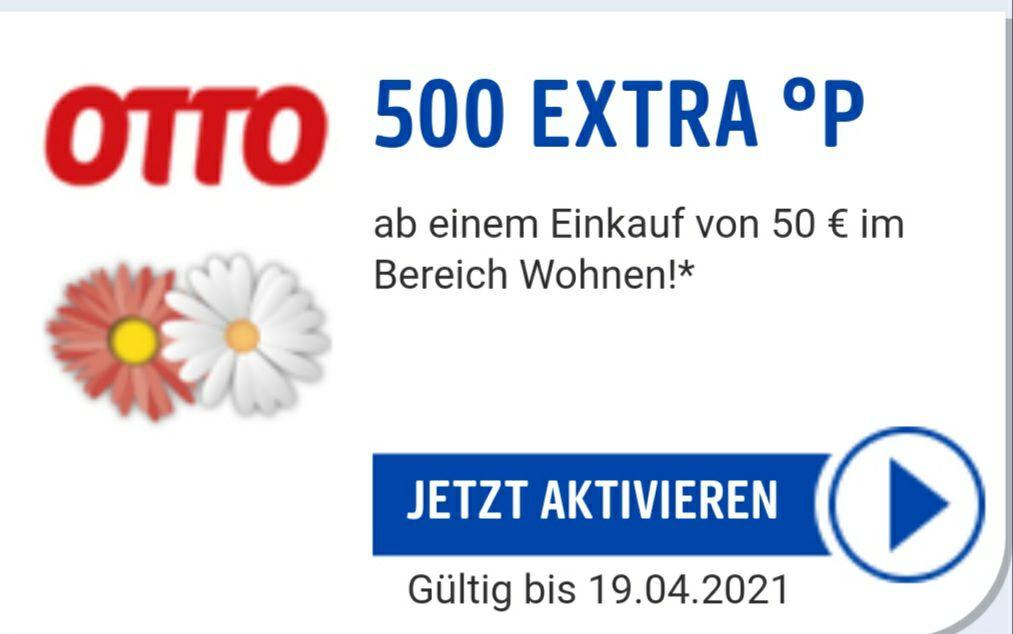 500 PAYBACK Punkte Extra bei OTTO auf den Bereich Wohnen