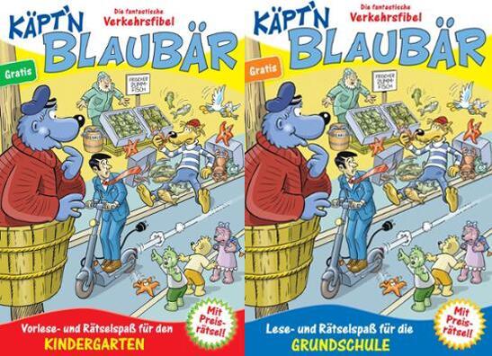 Preisjäger Junior: Gratis Käpt'n Blaubär Verkehrsfibel (Kindergarten- & Volksschulausgabe)