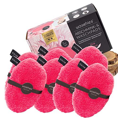 7er Set waschies® Faceline waschbare Abschminkpads pink/weiss