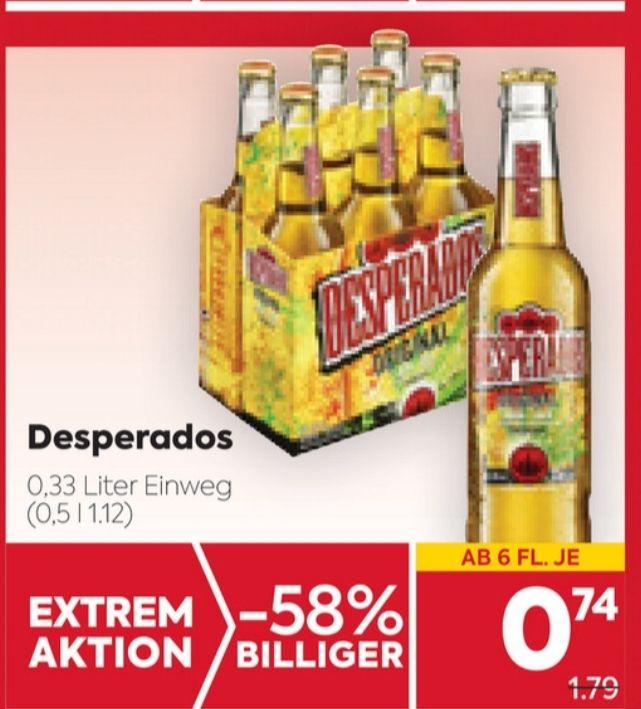 [Billa & Billaplus] Desperados Flaschenbier 6er-Tragerl
