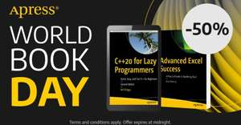 Apress: 50% Rabatt auf alle Bücher & eBooks