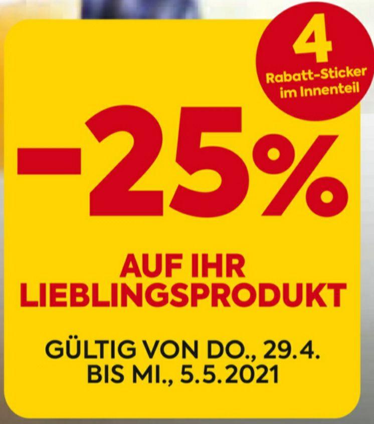 -25% STICKERAKTION beim Billa/Billa Plus