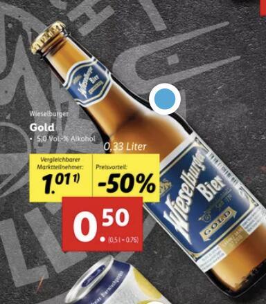 Lidl: Wieselburger Gold um nur 50 Cent