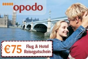 75€ Opodo Reisegutschein für 10€ - sehr günstige Kurzreisen möglich