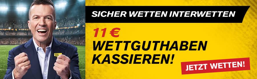 11€ Interwetten Gutschein