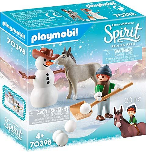 PLAYMOBIL DreamWorks Spirit 70398 Schneespaß mit Snips & Herrn Karotte