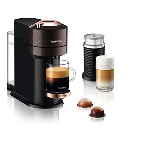 De'Longhi Nespresso Vertuo Next Premium ENV 120.BWAE Kaffeekapselmaschine mit Aeroccino Milchaufschäumer