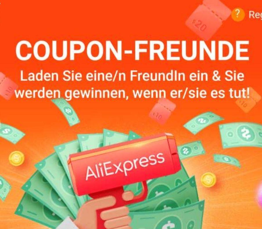 Aliexpress Coupons für Bestandskunden