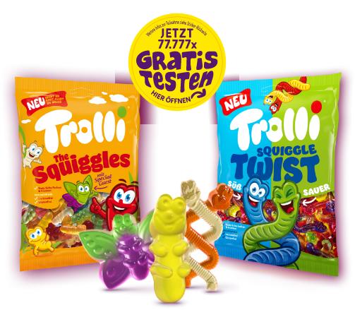 Gratis testen – Trolli The Squiggles und Squiggle Twist