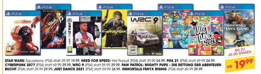 PS4 Spiele bis zu € 45 günstiger beim LIBRO