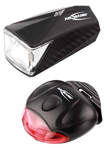 ANSMANN LED Fahrradlicht Set (vorne + hinten) StVZO-konform