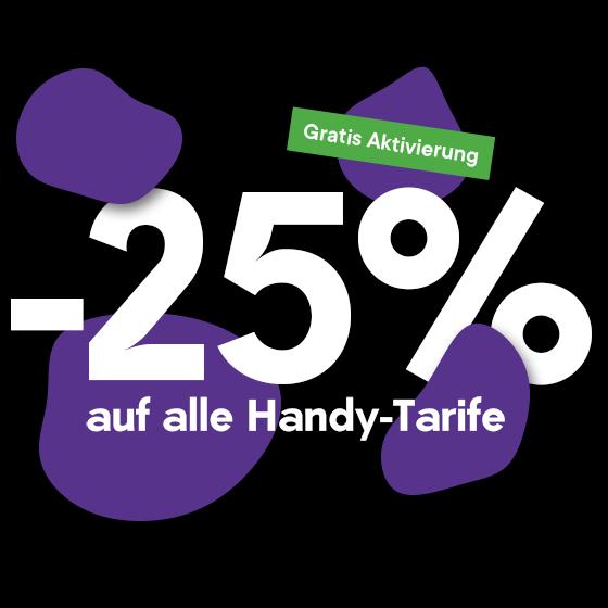 bob: -25% auf auf alle Tarife mit Smartphone