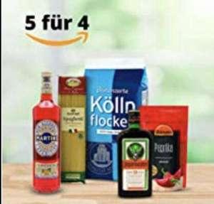 Amazon Lebensmittel Aktion Nimm 5, zahle 4. ; Lege 5 Artikel in den Warenkorb. Der günstigste ist kostenlos