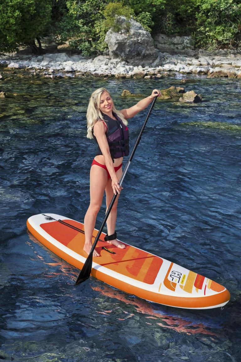 Bestway Hydro-Force SUP Allround Board-Set Aqua Journey (inkl. Paddel, Pumpe + Tasche)