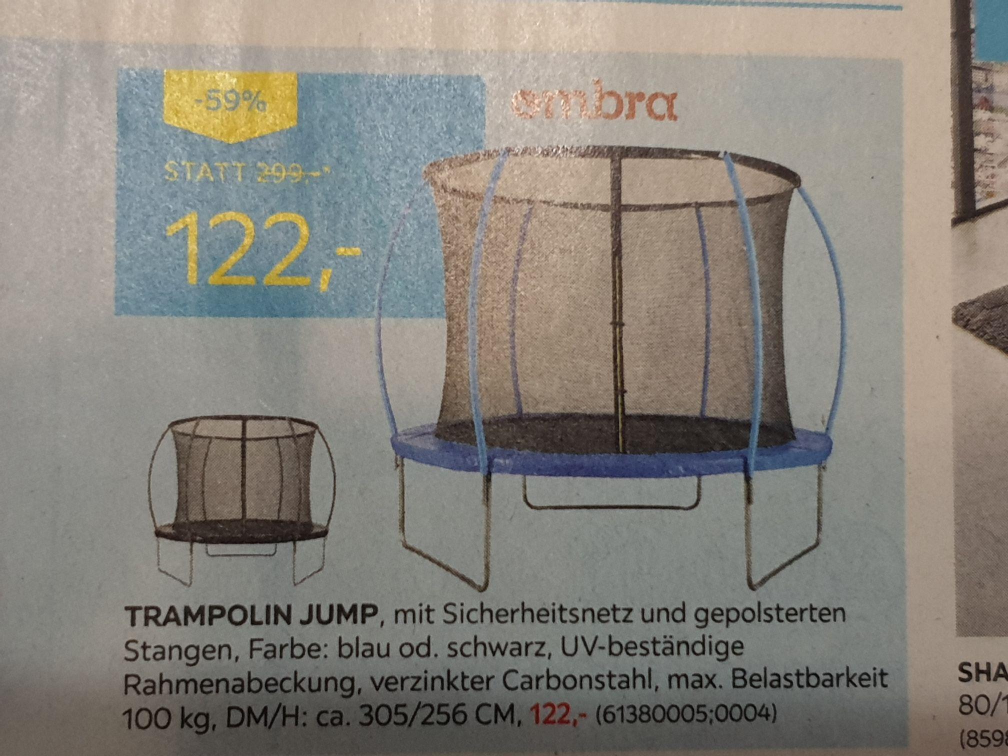 Trampolin Jump um € 122 beim Möbelix