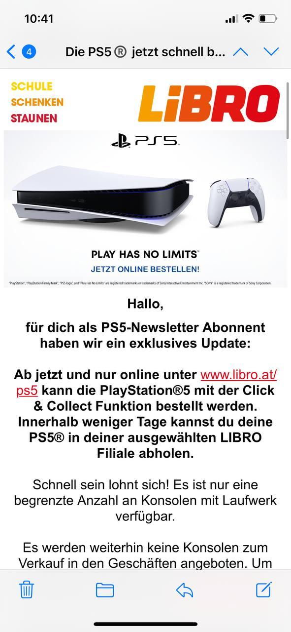 Schnell & Geduld: Playstation 5 bei Libro Bestellbar