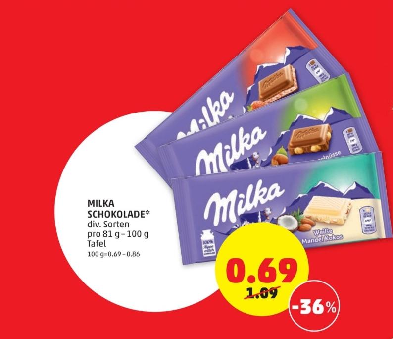 Milka Tafel-Schokolade in Aktion bei Penny am 23. und 24.Juli!!!