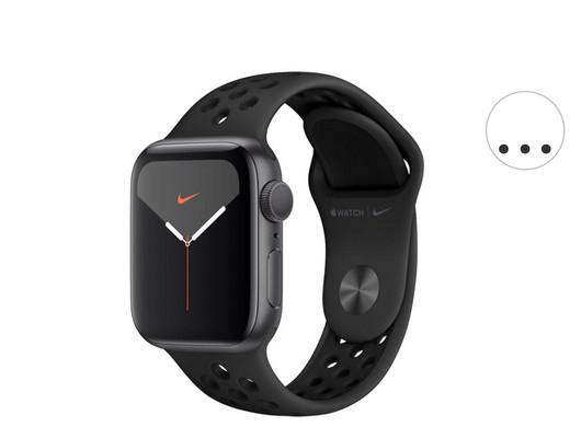 Apple Watch Series 5 44 mm Black Nike Edition oder Silber/Weiß