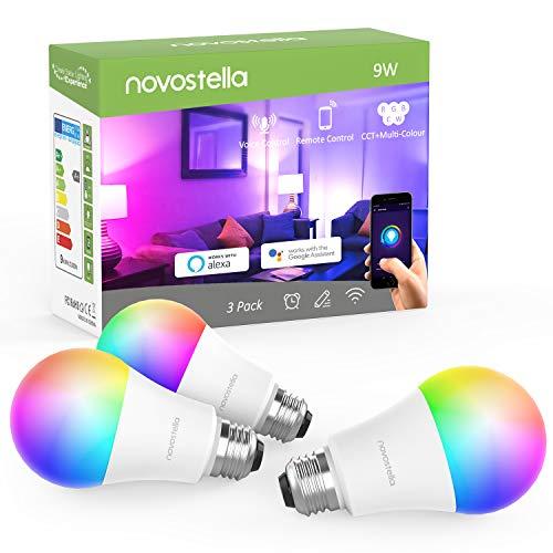 Novostella 9W 900LM LED Wlan Lampen 3er Pack