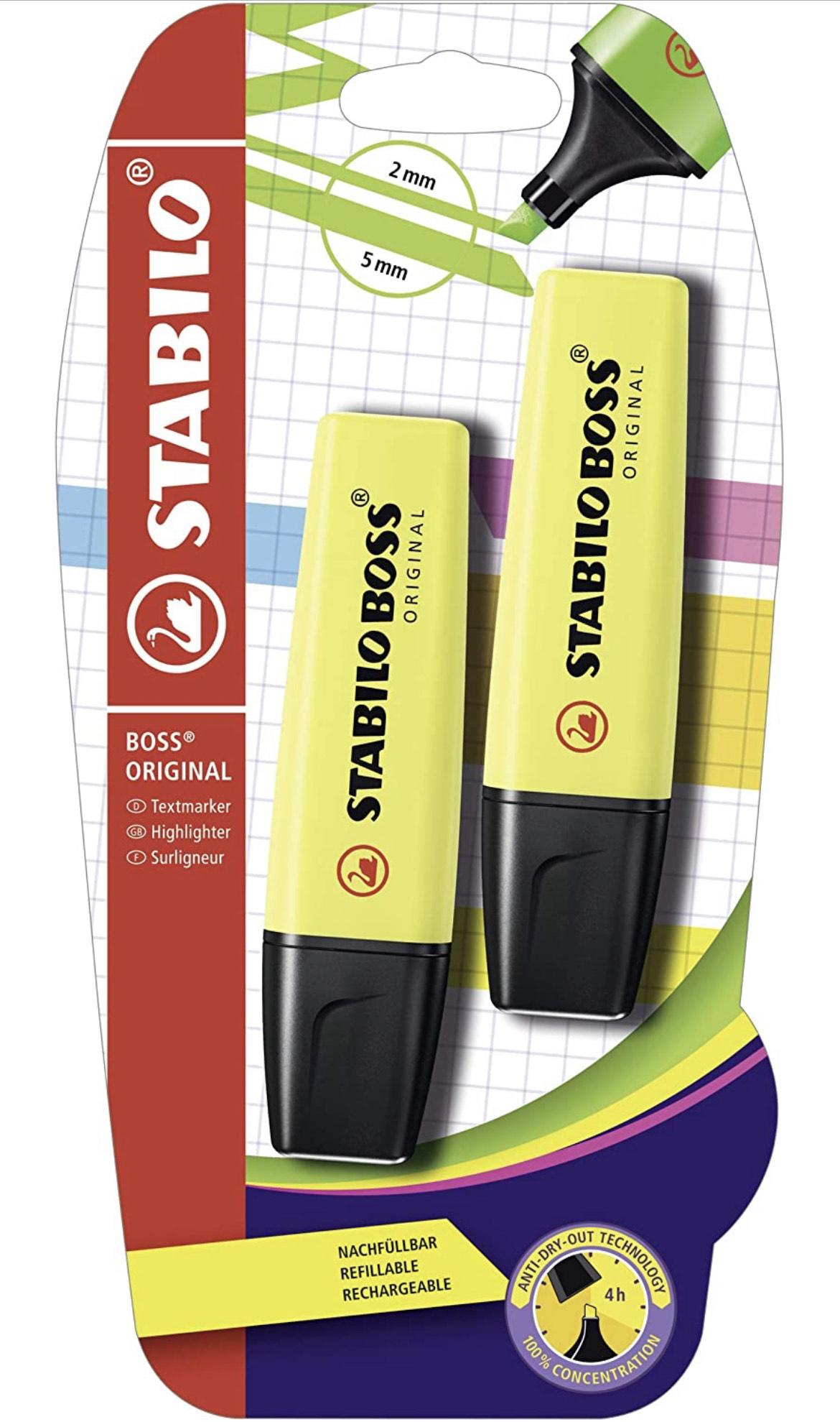 Preisfehler: Textmarker - STABILO BOSS ORIGINAL - 10x 2er Pack - gelb