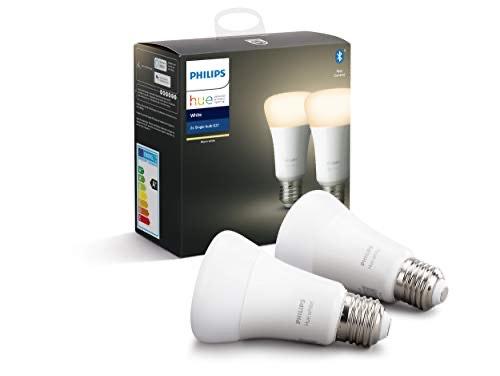 Philips Hue White E27 LED Lampe Doppelpack