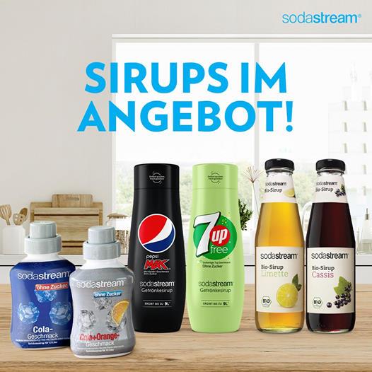 20 Prozent Rabatt auf SodaStream Sirupe