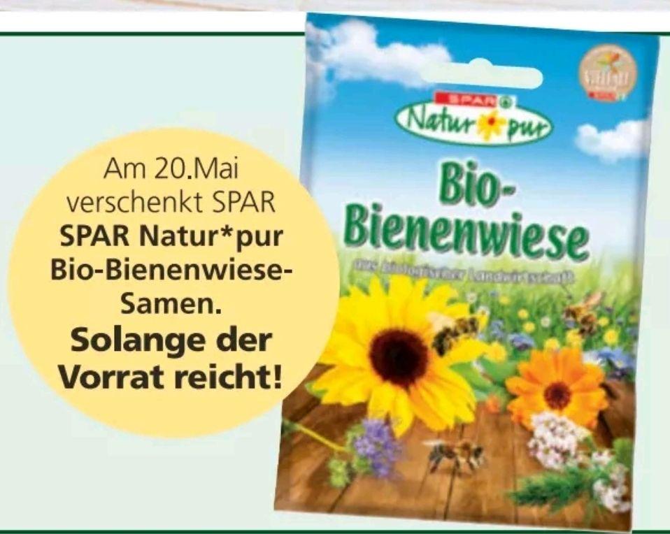 Gratis SNP Bienenwiese Samen am 20.05 bei Spar zum Welt Bienen Tag!