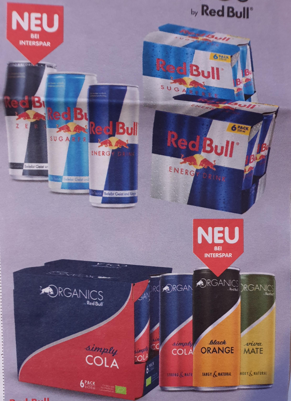 Red Bull (diverse Sorten) in Aktion ab 6 Stk. von 20. bis 22.Mai bei Interspar