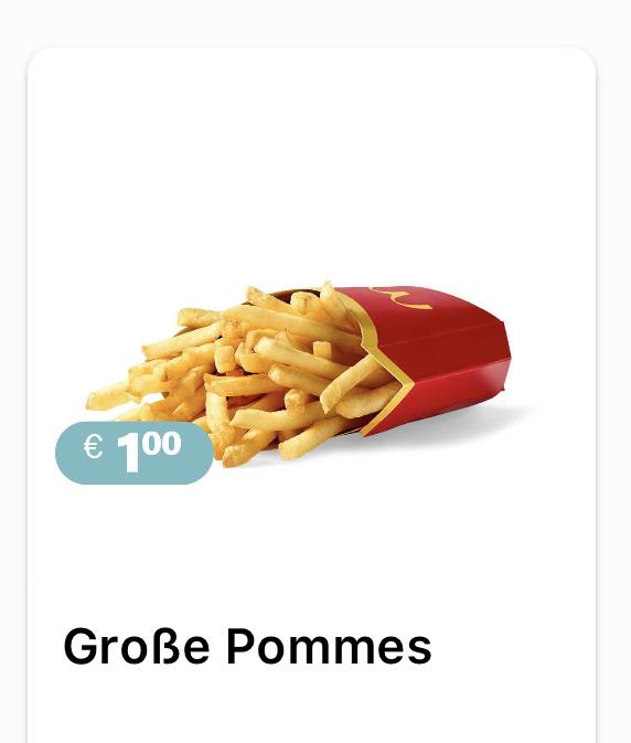 McDonald's - große Pommes um 1 €