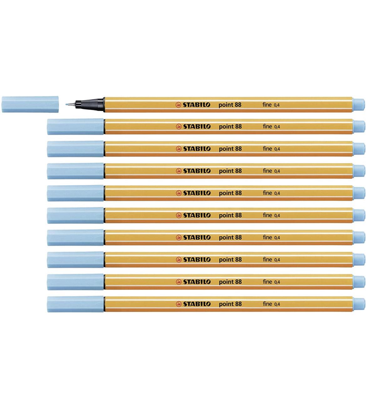 Fineliner - STABILO point 88 - 10er Pack - azurblau