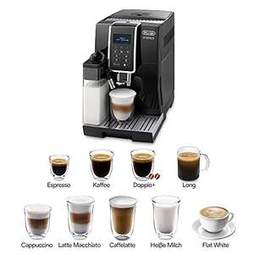 De'Longhi Dinamica ECAM 350.55.B Kaffeevollautomat mit Milchsystem