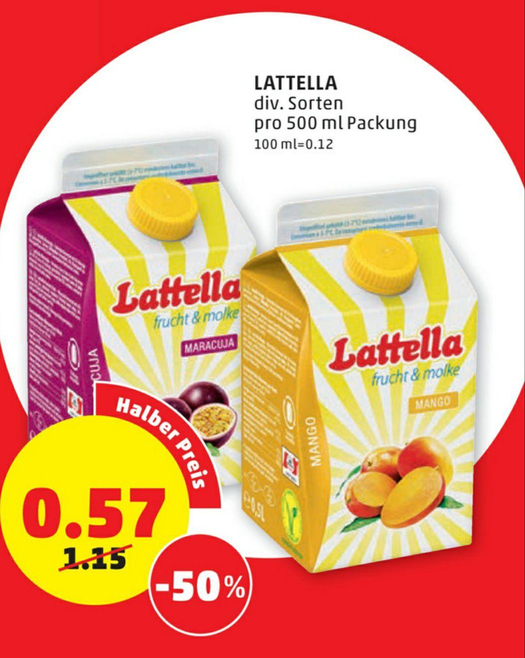 LATTELLA Fruchtmolke 500ml € 0.57 beim Penny am 28.05. und 29.05.