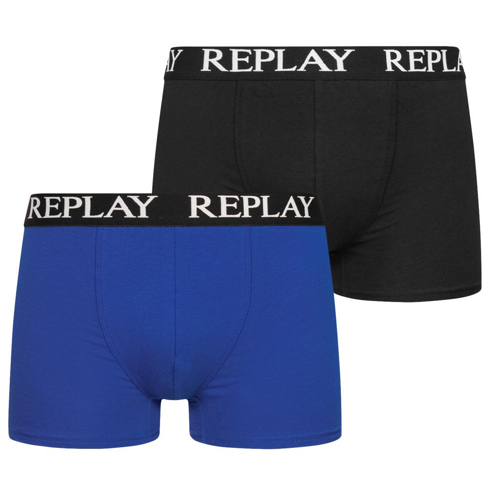 REPLAY Trunk Boxer Herren Boxershorts 2er-Pack in vielen verschiedenen Farben