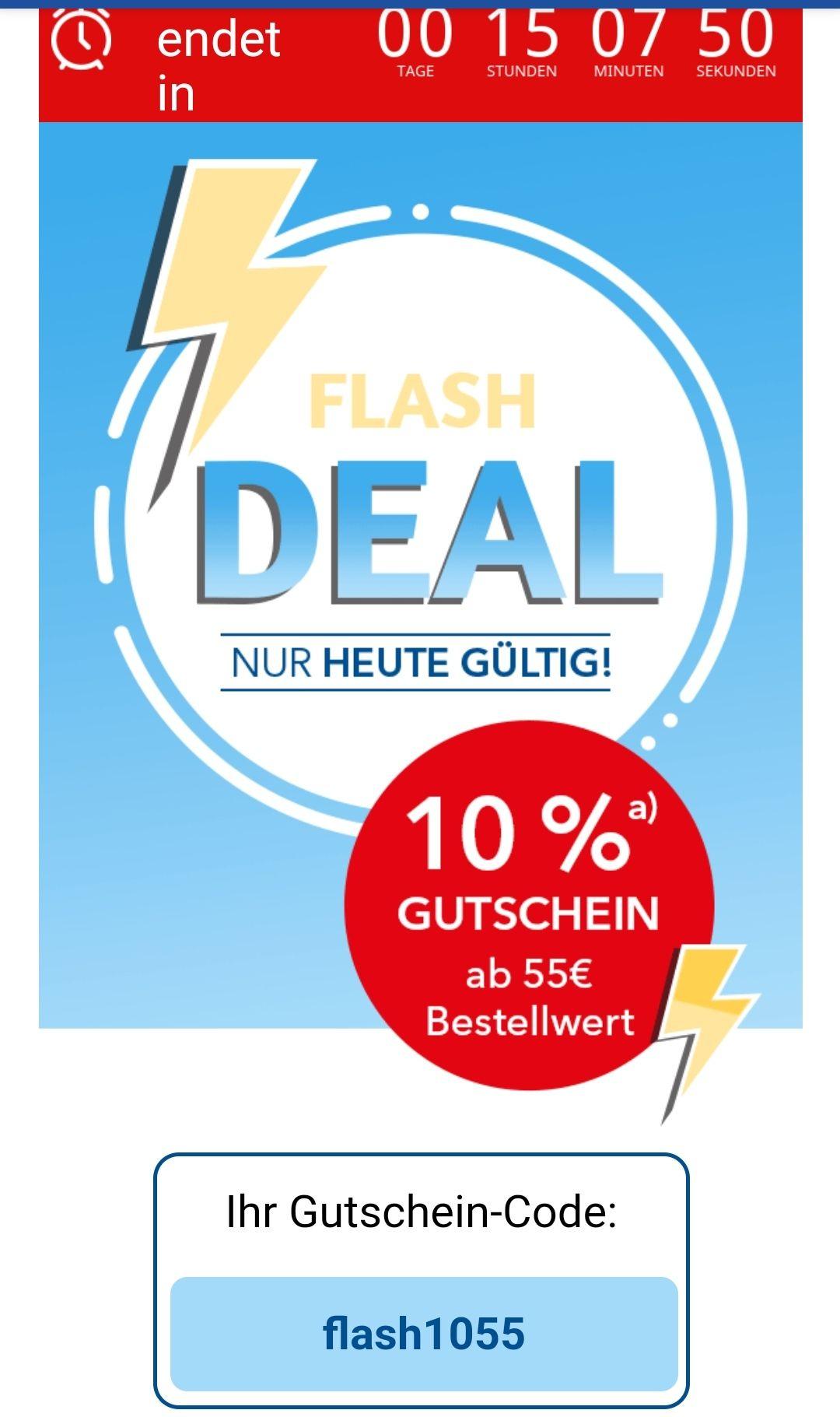 Shop Apotheke, 10% ab 55€ Mindestbestellwert