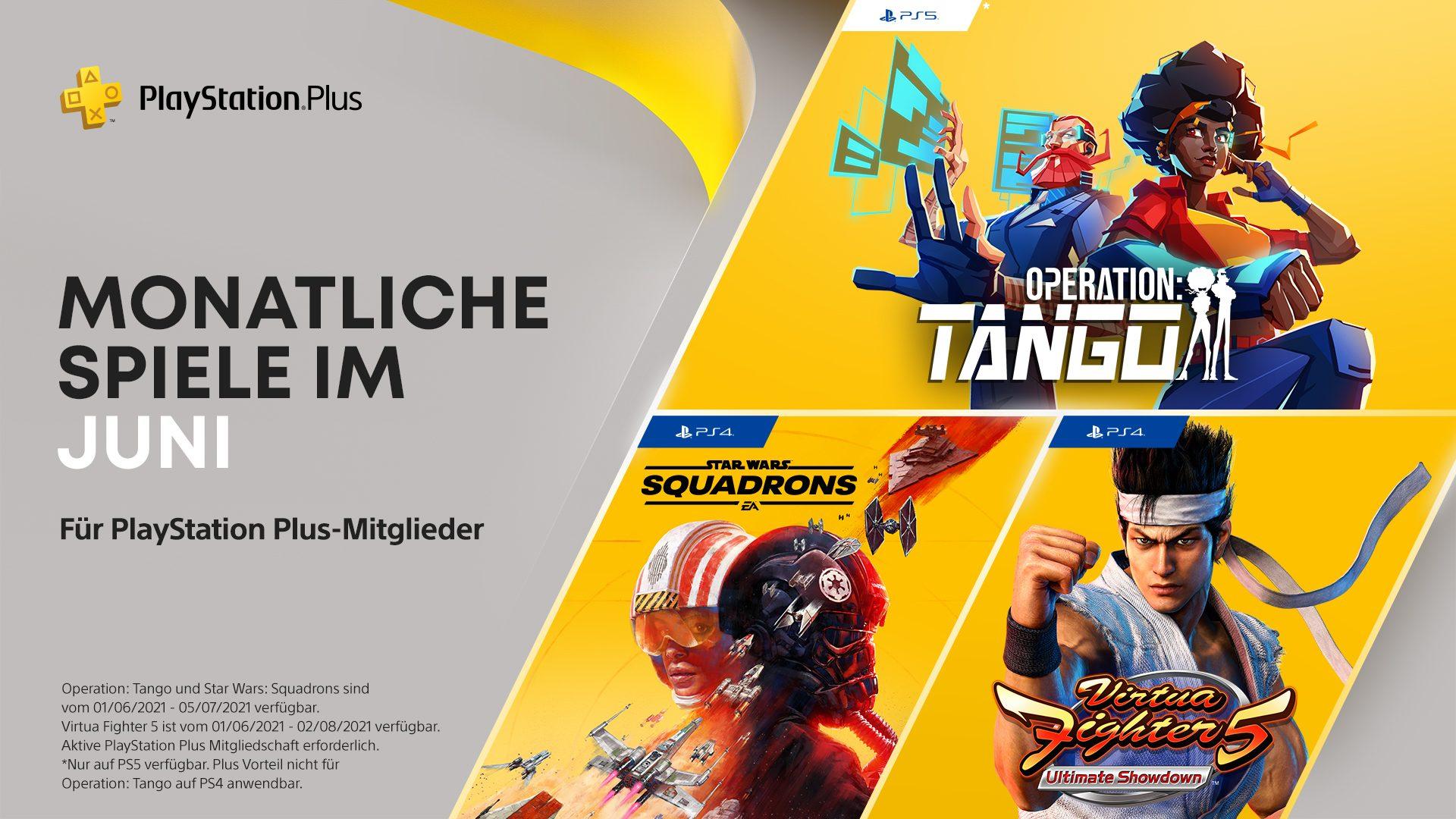 PS Plus Games im Juni: Operation Tango, Virtua Fighter 5: US, Star Wars: Squadrons (Infodeal)