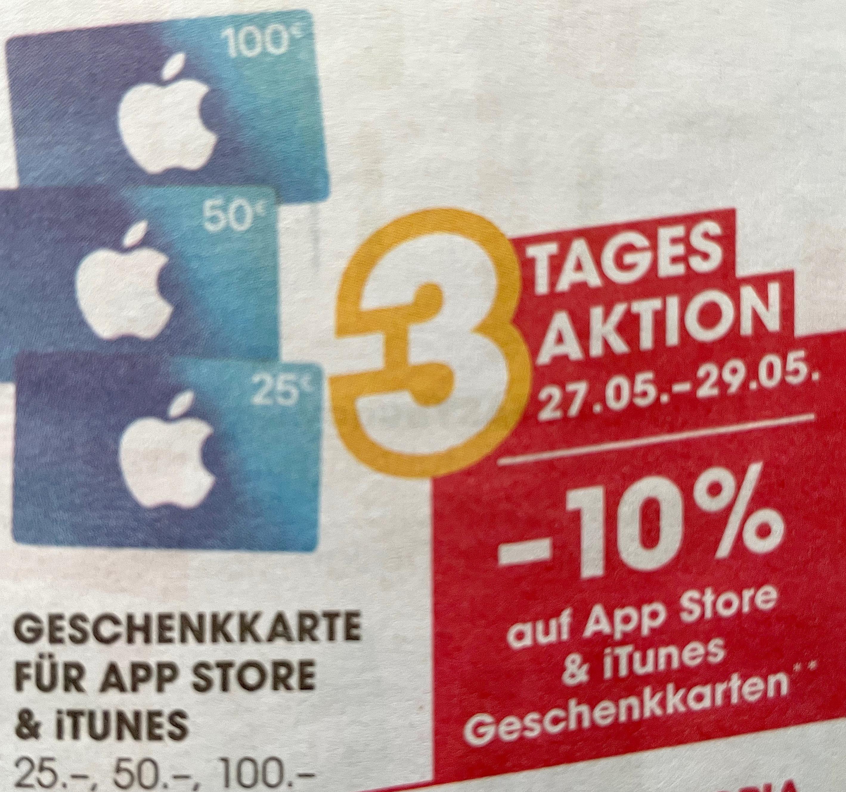 Apple App Store & iTunes-Karten -10% bei Libro