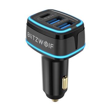Blitzwolf BW-SD7 80W 3-Port USB Auto Adapter