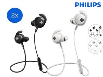 2x Philips BASS+ BT-Ohrhörer   kabellos