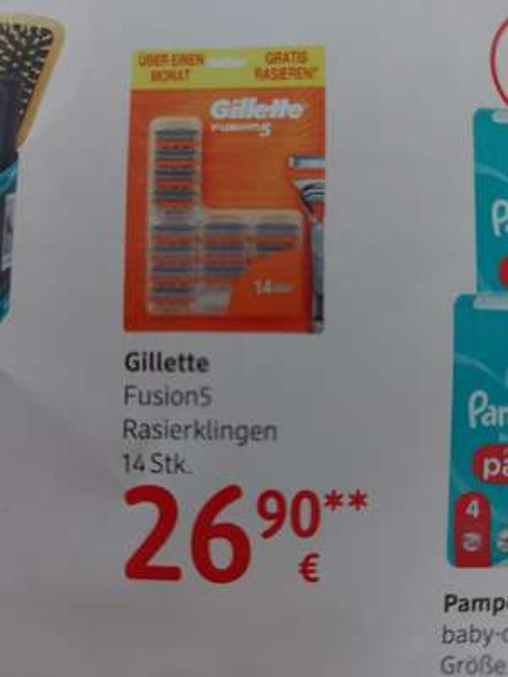 DM + Payback 14 Gillette Fusion 5 Klingen
