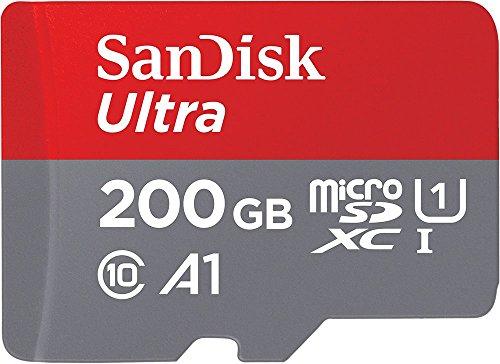 SanDisk Ultra 200GB MicroSDXC Speicherkarte + SD-Adapter