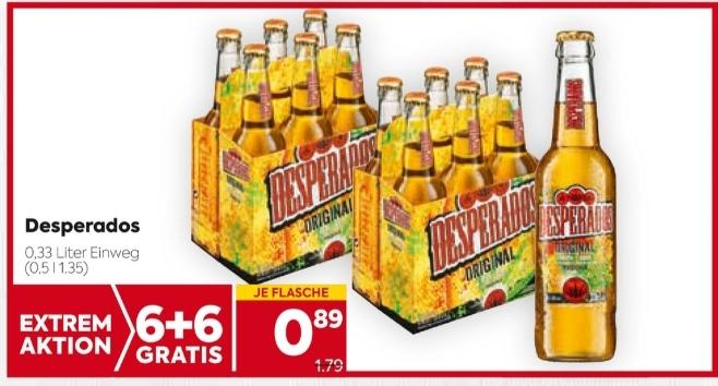 Desperados Bier in Aktion bei Billa und Billa-Plus
