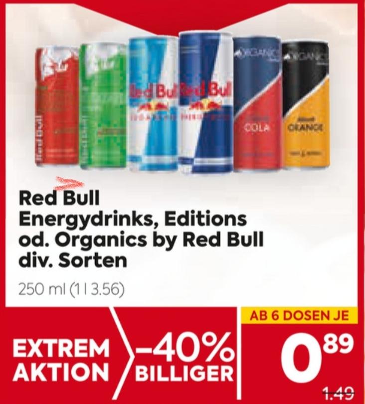 Red Bull in diversen Sorten in Aktion bei Billa und Billa-Plus