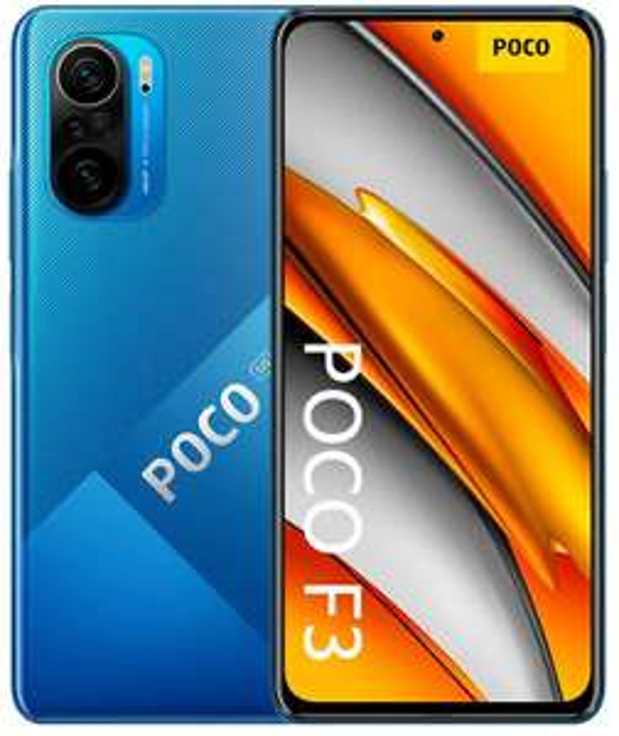 "Xiaomi Poco F3 128/6GB - blau oder schwarz (Snapdragon 870, 6.67"" 120Hz Amoled Display, 4520mAh Akku, 33W Laden, NFC: Google Pay, 5G)"