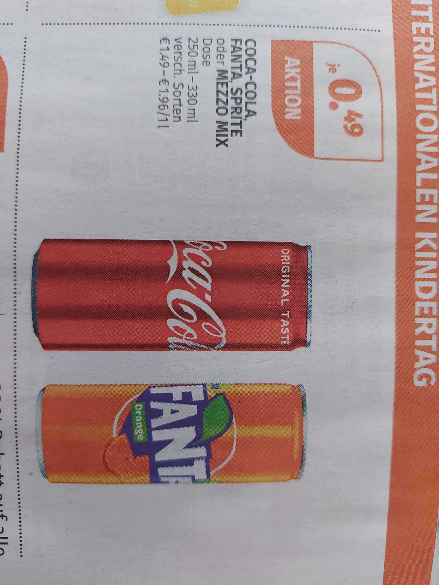 Müller - Coca-Cola, Fanta, Sprite o. Mezzo Mix