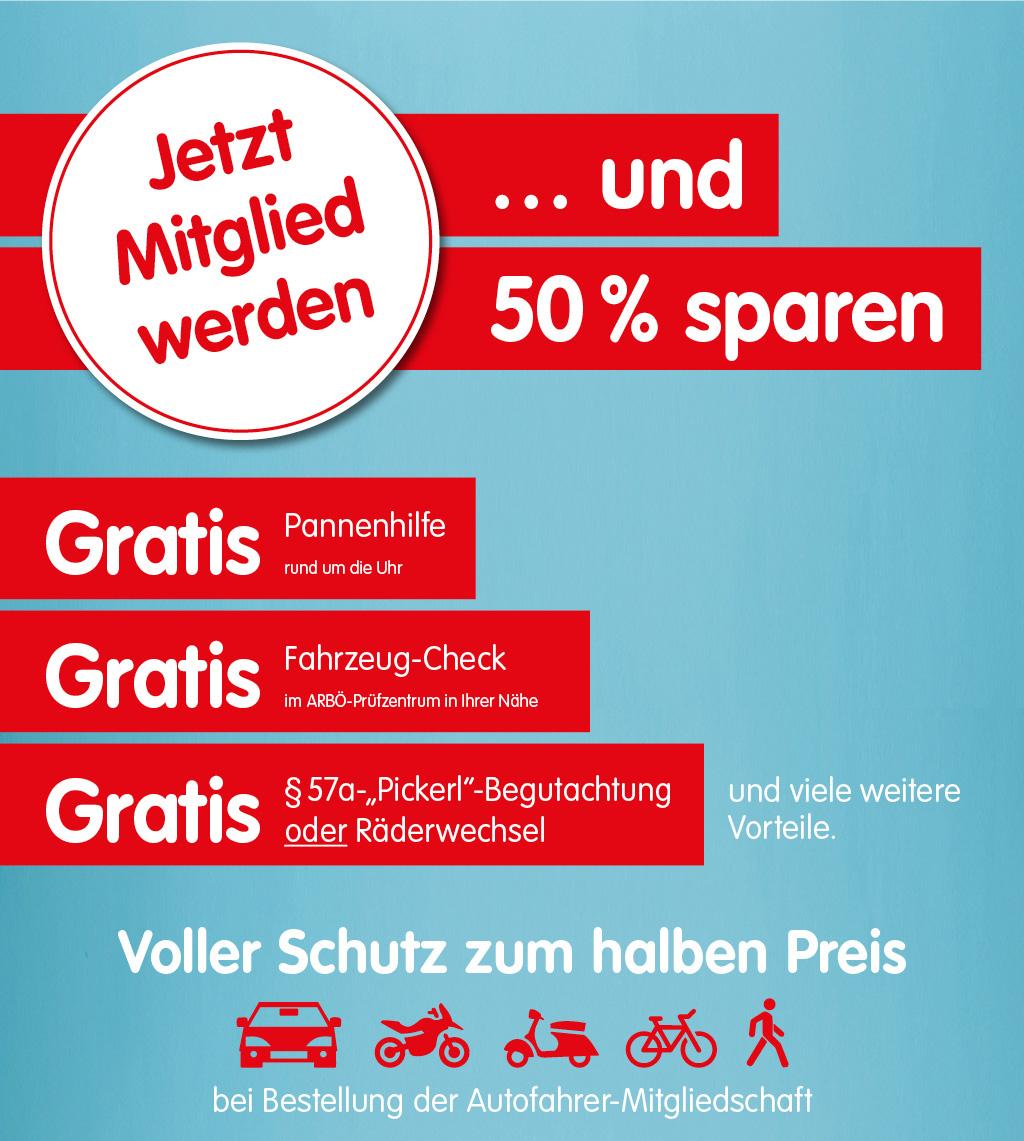 ARBÖ: Gratis §57a Pickerl-Begutachtung/Räderwechsel für Neumitglieder