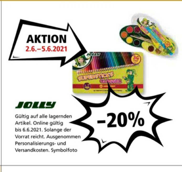 -20% auf alle lagernden JOLLY Artikel bei Pagro 02.06.-05.06. + 4Fach Jö's auf gesamten Einkauf