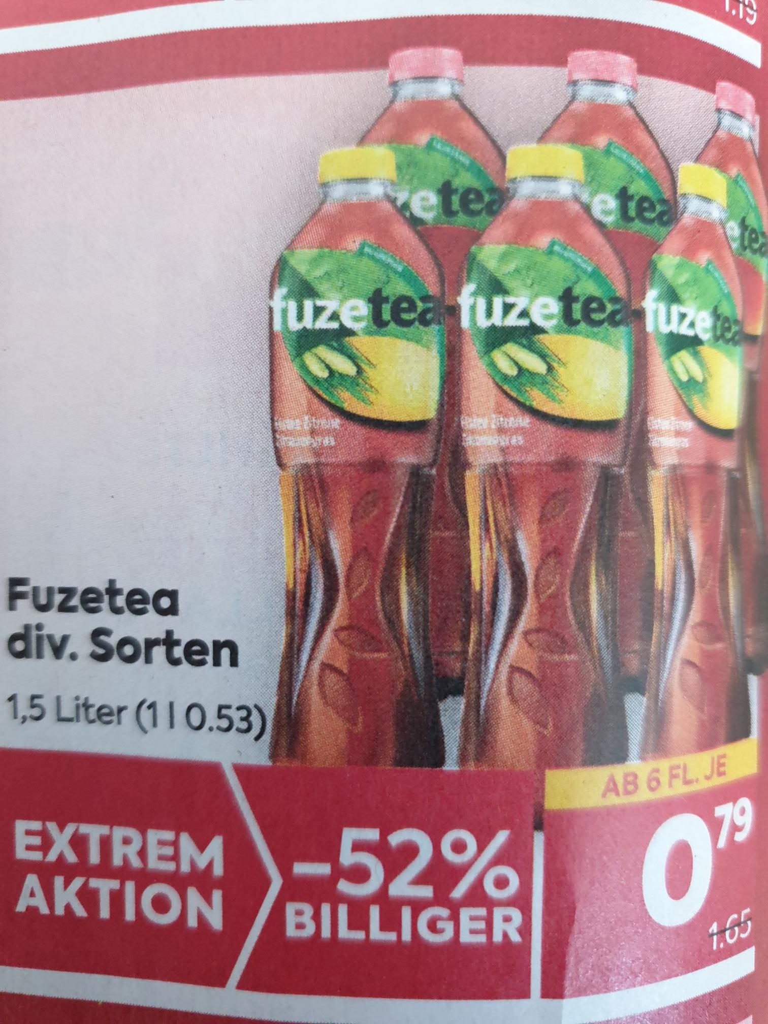 FUZETEA 1.5l um 0.79 € ab 6 Stück 02.06.-09.06.