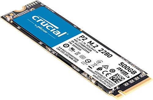 """Crucial """"P2 CT500P2SSD8"""" Interne SSD (500GB - bis zu 2400 MB/s)"""