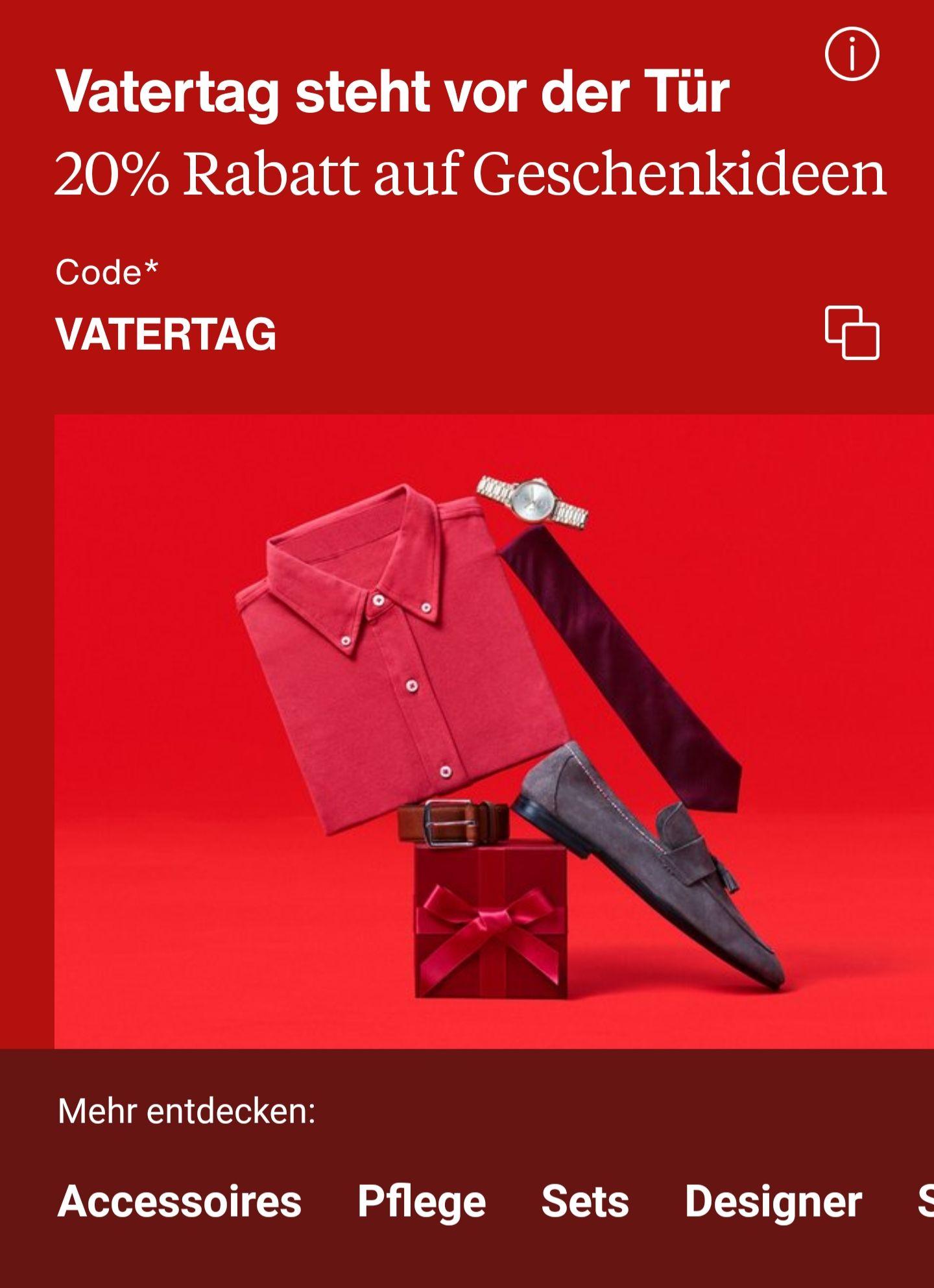Zalando: 20% Rabatt auf Geschenkideen zum Vatertag