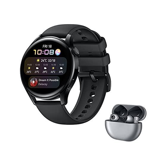 HUAWEI WATCH 3 - 4G Smartwatch mit 1.43'' AMOLED Display + FreeBuds Pro